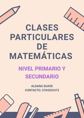 Clases particulares de matemática 150