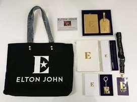 Set de Articulos de Elton Jhon vip tour