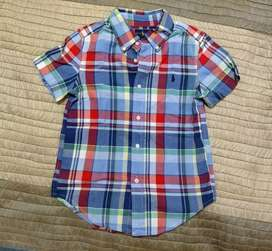 Camisa infantil manga corta. Ralph Lauren. Niños de 6 años