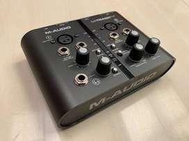interface de grabacion m-audio m-track plus