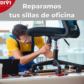 Reparación de sillas de oficina, Tapizado, mantenimientos, repuestos para sillas de oficina