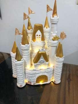 Castillo Princesas Adorno Torta con Luz