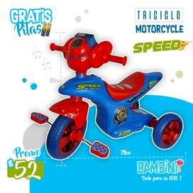 TRICICLO TIPO MOTO SUPER RESISTENTE