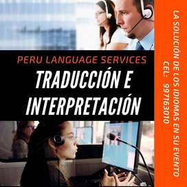 Traducción e interpretación simultánea / Simultanouss interpretation  in Peru