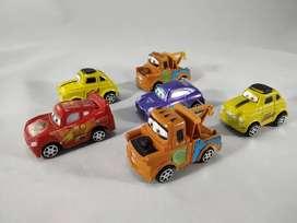 carritos cars de coleccion mate juguetes luigi 6 personajes