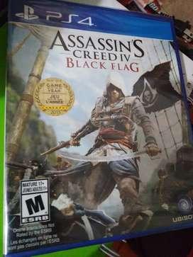 JUEGO PS4 ASSASSINS CREED BLACK FLAG NUEVO SELLADO