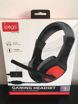 Diadema Ipega Gamer Ps4/ Xbox One/ N Switch/ Pc/ Tablet/ Celular