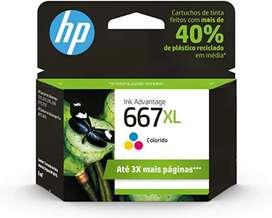 Cartuchos para impresora HP tinta negra y tricolor