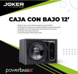 "Caja con Bajo 12"" powerbass Aceptamos Tarjeta"