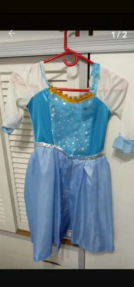 Vestido Disfraz Infantil Elsa Frozen