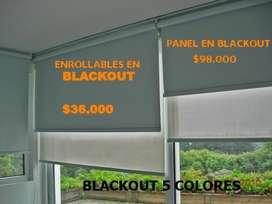 Cortinas enrollables blackout sheer panel japones
