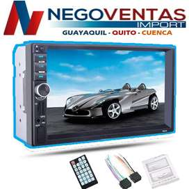 RADIO PARA CARRO DOBLE DIN MP5 DVD PANTALLA 6,5  USB SD FM AUXILIAR BLUETOOH
