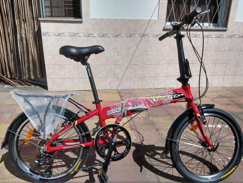 Bicicleta Explorer Folding Plegable 0