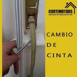 Cambio de cinta de cortinas de enrollar