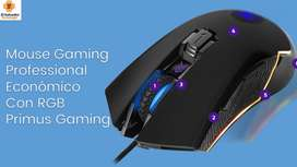 Mouse Gaming Professional Económico Con RGB Primus Gaming