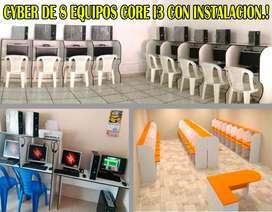 Cyber 8 máquinas Intel Core i3 1 Año de GARANTíA