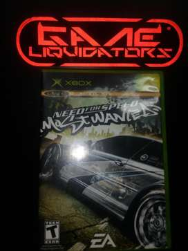 NEED FOR SPEED MOST WANTED XBOX CAJA NEGRA ANTIGUO