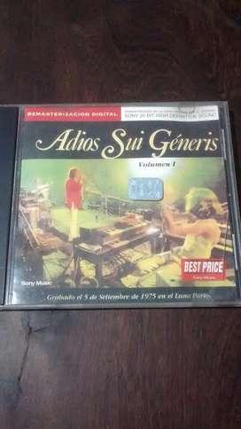 Adios Sui Géneris Vol.1