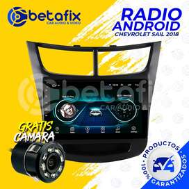 RADIO ANDROID PARA CHEVROLET SAIL 2018 - 2020 GPS BT USB WIFI BETAFIX DESDE