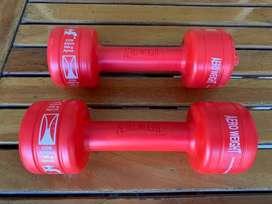 2 Pesas Mancuernas de 1 - 2 Kg Aero Weight