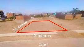 Excelente terreno 240m2 en condominio frente a parque en Pachacamac
