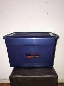 Caja Organizador Multiuso Colombraro 42ltr Color Azul