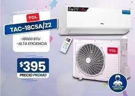 Aire Acondicionado 18000BTU - TCL ALTA EFICIENCIA / Ecológico