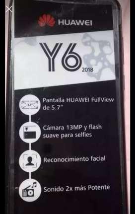 Vendo hawei Y6 estado 10/10 unika dueña con caja  de 16 gb dúo