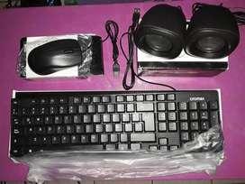REMATO Kit Teclado/Mouse/Parlante USB