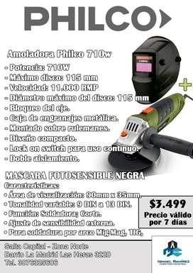 Amoladora + Mascara fotosensible