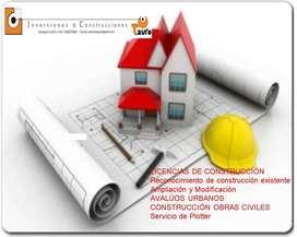 ARQUITECTOS e INGENIEROS -LICENCIAS DE CONSTRUCCIÓN -AVALUOS COMERCIALES