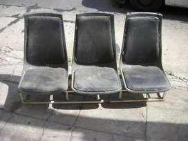 repuesto renault, fila de tres asientos para adaptar a utilitario, trafic,transit, usado
