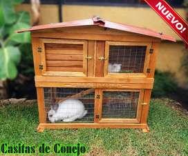Casita de  Conejo 2 Pisos