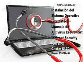 Servicio de Mantenimiento y Reparación de Computadoras