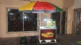 Renta carrito de hamburguesas