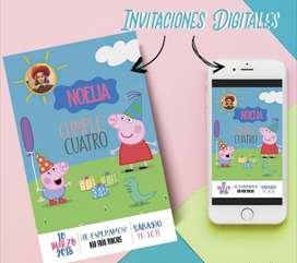 Diseño para Whatsapp Tarjetas Invitación