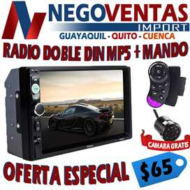 RADIO DOBLE DIN MP5 MANDOS AL VOLANTE UB SD BT DE OFERTA