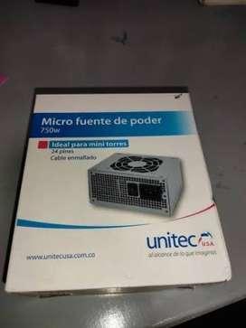 Micro Fuente De Poder 750w