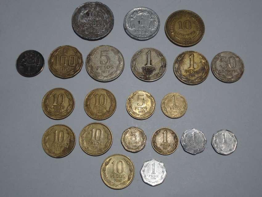 coleccion monedas de Chile (x21) 0