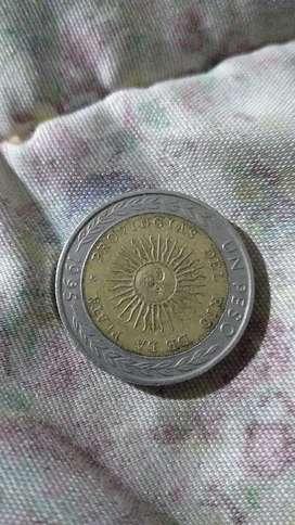 Moneda de 1 pesos con error de provingias