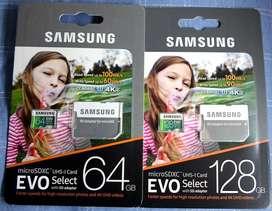 Memorias micro SD Samsung EVO 64GB 128GB Clase10 U3 4K ORIGINALES