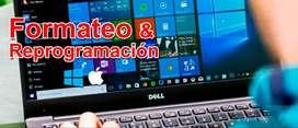 FORMATEO INSTALACION DE PROGRAMAS EN COMPUTADORES DE ESCRITORIO Y PORTATILES