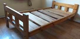 Cama madera 1 plaza estandar