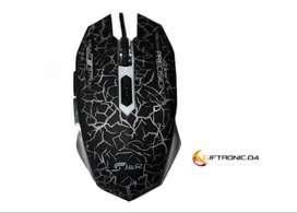 Mouse Gamer Led rgb Mgjr-032 2400 Dpi Ajustables