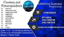PAPELERIA E INTERNET