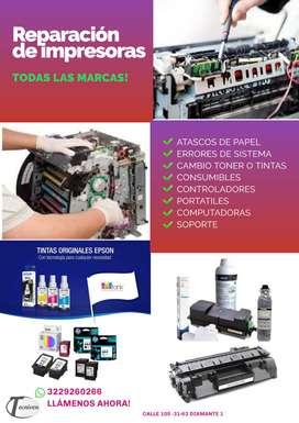 Servicio Tecnico Impresoras Fotocopiadoras Computadoras y portatiles