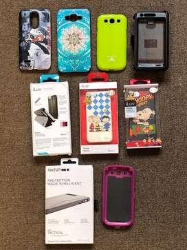 Cases Nuevos de iphone 8 plus,marca Tactical Iphone 5 iLuv i otros todos de Usa