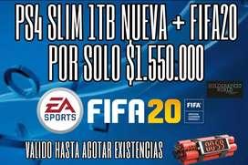 PS4 SLIM NUEVA 1TB + FIFA 20