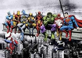 Retablo/poster/cuadro Conjunto Dc-MARVEL  Comics 50 X 70 Cmts