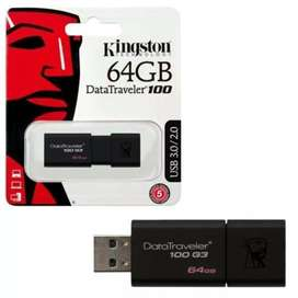 Pendrive 64 GB Kingston Datatraveler100